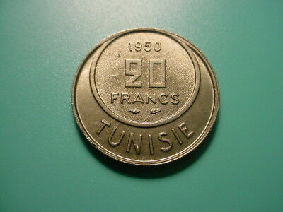 Tunisia 1950 20-Francs In Uncirculated Condition