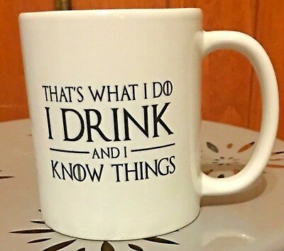 Game of Thrones Tyrion Lannister I Know Things Double-Sided 12 oz Ceramic Mug