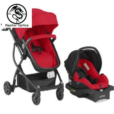 3 In 1 Baby Stroller Car Seat Combo Travel System Unisex Red URBINI OMNI Plus