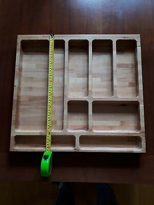 Custom made Solid WOOD 9 COMPARTMENT CUTLERY TRAY DRAWER ORGANISER STORAGE TIDY