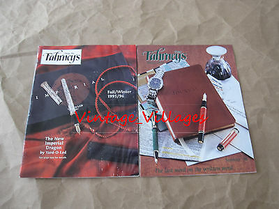 Vintage Lot of 2 The Fahrneys Pen Catalogs (1995/96, 1998)