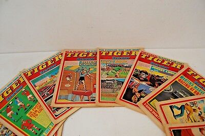 TIGER AND SCORCHER COMIC YEAR 1976 x 10, various dates, please see photo's #2