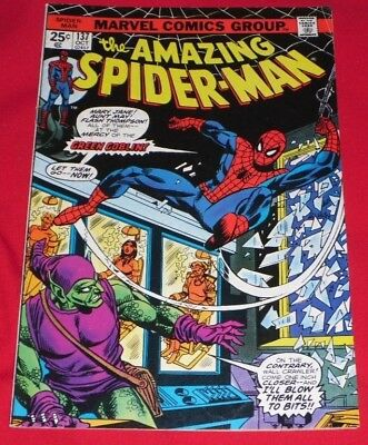 Amazing Spiderman _137# Oct 74 The Green Goblin Strikes , _And Only 99P _