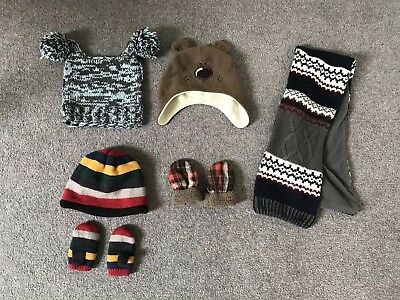 Baby Boy Clothes Bundle 12-18 Months (hats, mittens, scarf)