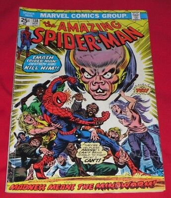 Amazing _Spiderman_ 138# Nov _74 Madness Means _The Mindworm 99P Start !