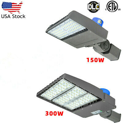 300W 150W LED Parking Lot Shoebox Area Light,450W 1500W Metal Halide Equivalent