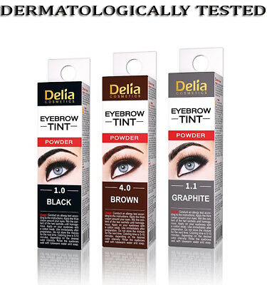 New Delia Eyebrow HENNA Traditional Tint Dark Brown Black Graphite Eyelashes 2ml