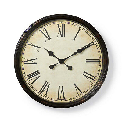 50cm Black Vintage Retro Wall Clock Stylish Look Home Kitchen Decor Wall Clock