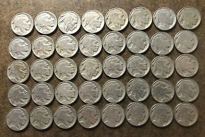 Roll (40 coins) 1929 Buffalo/Indian Head Nickels - No Reserve