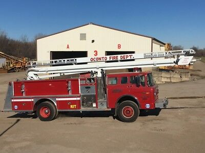 1987 Ford C800 55' Ladder Fire Truck ROLLING CHASSIS