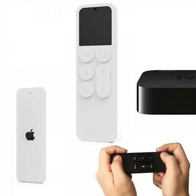 Funda Silicona Para Mando Apple Tv 4 Generacion Anti Golpes Siri Remote Blanco