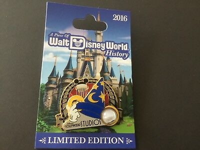Disney Walt World Piece of History Pin Hollywood Studios Sorcerer Hat Mickey le