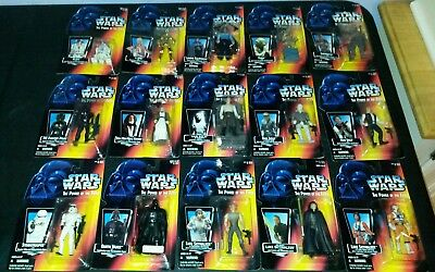 15 LOT Star Wars ACTION FIGURES POTF red power of the force