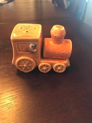 VINTAGE Ceramic TRAIN w/ Conductor Salt & Pepper Shakers Japan