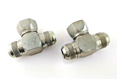 "203101-14-14S LOT (2) EATON Swivel Nut Branch Tee, JIC(f) x 7/8"" JIC(m) x JIC(m)"