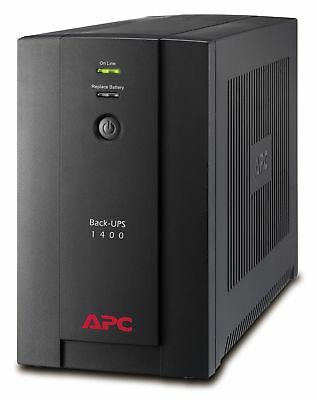 APC Back-UPS BX - BX1400UI - Uninterruptible Power Supply 1400VA (AVR, 6 Outl...