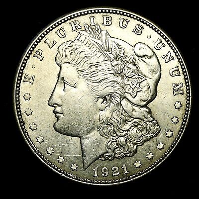 1921 D ~**ABOUT UNCIRCULATED AU**~ Silver Morgan Dollar Rare US Old Coin! #462