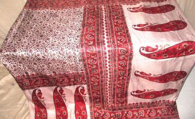 Off-white Red Pure Silk Antique Sari Saree SALE quality products TRENDY #9B4QV
