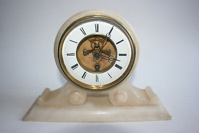 Antique/Vingage French BREVETE PARIS Marble Base Mantel Clock - Working