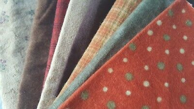 A Bundle Of Cotton Flannel 8 Pieces Of 100% American Flannel In Autumn Designs