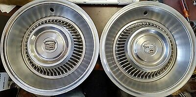 1963 - 1964 Cadillac Deville Fleetwood Wheel Covers Hubcaps - Set of 2