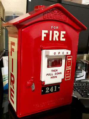 MINT- Fully Restored Gamewell Fire Alarm Box 1964
