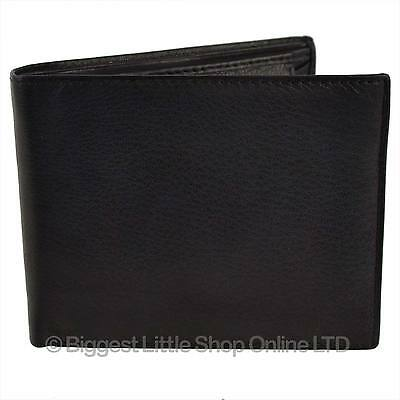 bb154c503950fb NEW Mens/Gents Classic LEATHER Bi-fold WALLET Top Quality Black Coin Pocket