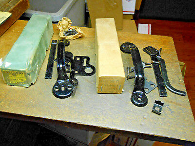 2 NOS BARN DOOR THUMB LATCH- 1  Stanley Sweetheart & 1 Unnamed- Complete