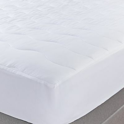 Silentnight Soft as Silk Mattress Protector - Double White