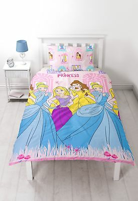 Disney Princess 'Boulevard' Single Duvet Set - Repetitive Print Design