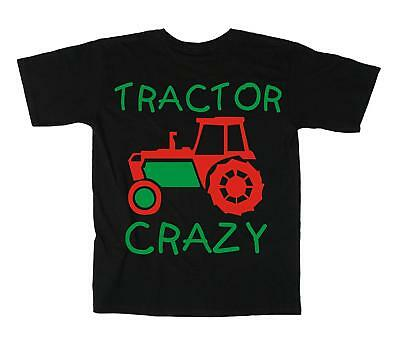 TRACTOR CRAZY' Boy's T-shirt with red and green print