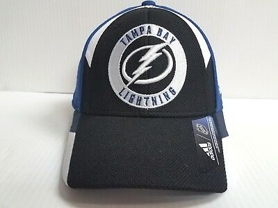 Tampa Bay Lightning Adidas Cap NHL Hockey 2018 Official Stretch Fit Fitted Hat