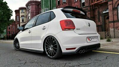 Cup Diffusor Heck Ansatz VW POLO MK5 GTI Facelift DTM LOOK Carbon Look