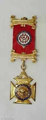 1931 Rare 9Ct Solid Gold Raob Order Of Merit Honour Of Knighthood Masonic Jewel
