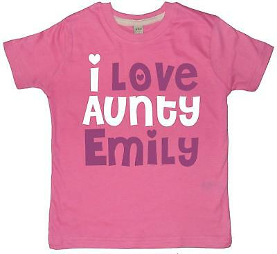 PERSONALISED I LOVE AUNTY WITH NAME' Children's T-shirt (PLEASE SELECT ADD GIFT