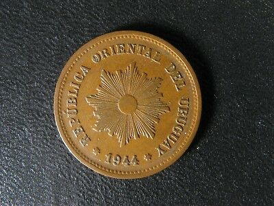 5 centesimos 1944 So Uruguay KM#21a Copper coin c cents