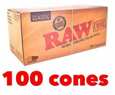 raw classic 98 special size pre roll cone 100 pack