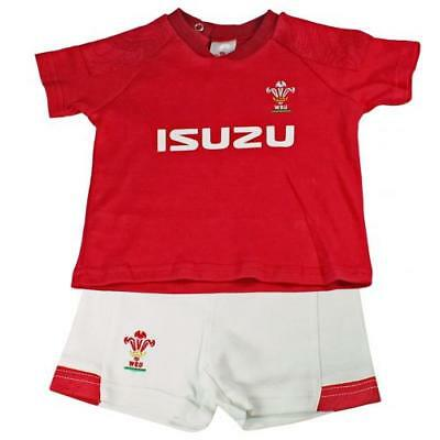 Wales RFU Welsh Rugby Team Full Kit Shirt & Shorts Baby Clothing Kids