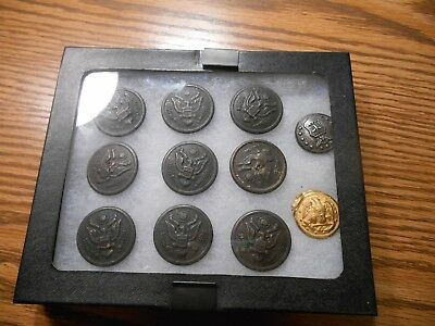 Vintage Eagle Military Buttons