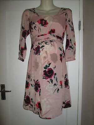 Pretty Size 10 Asos Floral Maternity Dress See Pics!!