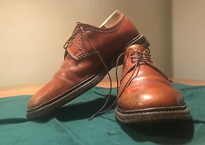 Loake Bisley, brown leather shoes, size 9.5 (UK), good condition, lace-up