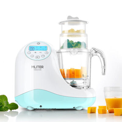 5in1 Baby Food Maker Processor Warmer Sterilizer Blender Cooker 3 Steam Baskets