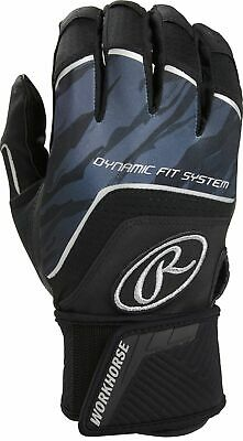 Rawlings Adult Workhorse Compression Strap Batting Gloves