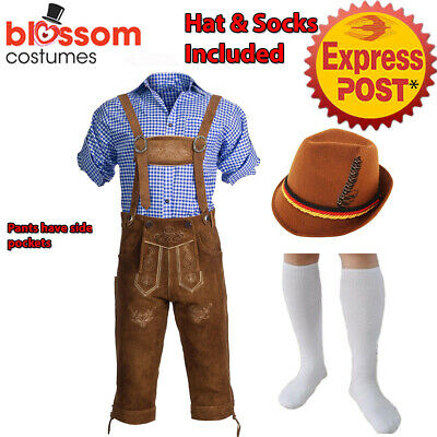 K665 Authentic German Bavarian Suede Lederhosen Oktoberfest Beer Men Costume Hat