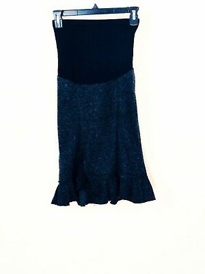 Motherhood Maternity Black Skirt Small Size Belly Fit Stretch Work Casual Skirts