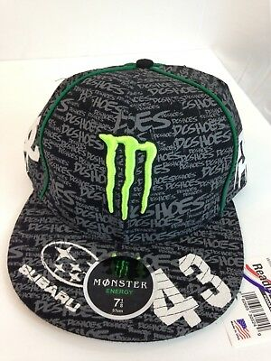 separation shoes ca634 1db8b ... Monster Subaru Rally Team USA Fitted Hat Monster DC Shoes Ken Block 43  7 ...