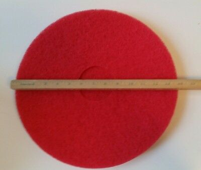 """Case of 5 Red Buffer 14"""" Machine Floor Buffing Pads PRO-LINK Buff Clean Cleaner"""
