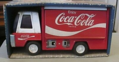 buddy l coca cola pressed steel truck circa 1970 9inch long never out of box