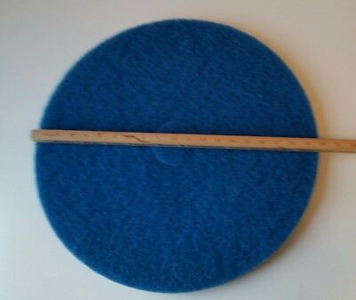 "Case of 5 Blue 20"" Machine Floor Cleaning Pads BRADY Scrubbing Pad Strip Polish"