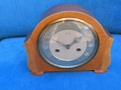 Vintage Smiths Floating Balance Chiming Mantel Clock - 1950's - Working